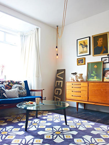 retro living room | gap interiors blog