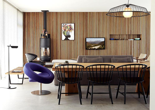 Contemporary open plan dining and living rooms - © Bureaux/GAP Interiors