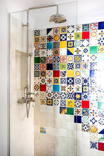 Go with the flow gap interiors blog for Colorful bathroom tile designs