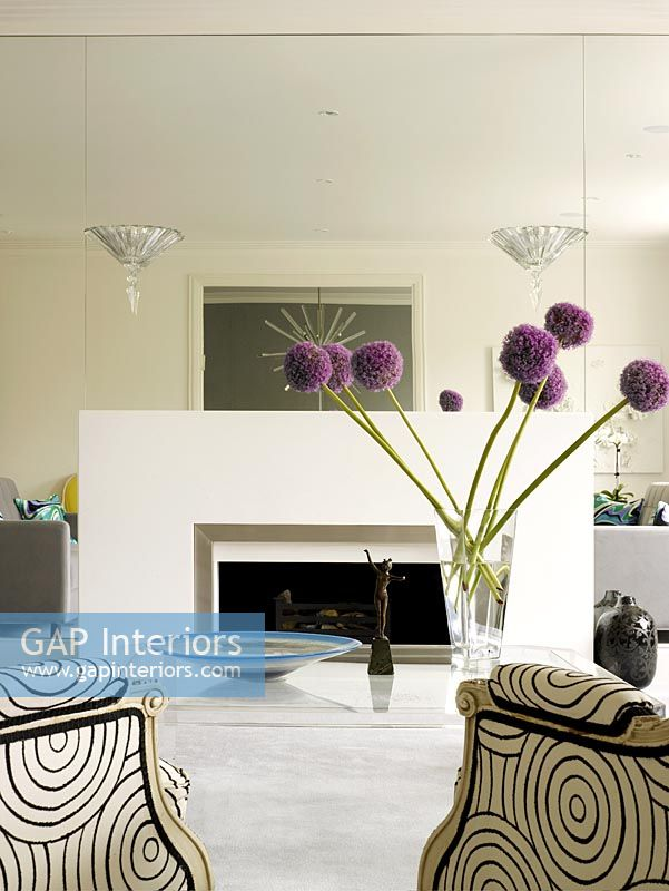 Gap interiors classic living room with full length for Full length mirror in living room