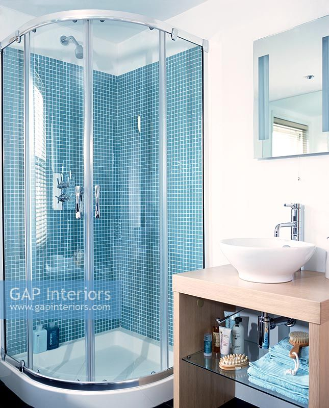 Tiled Shower Enclosures gap interiors - modern bathroom with tiled shower enclosure and