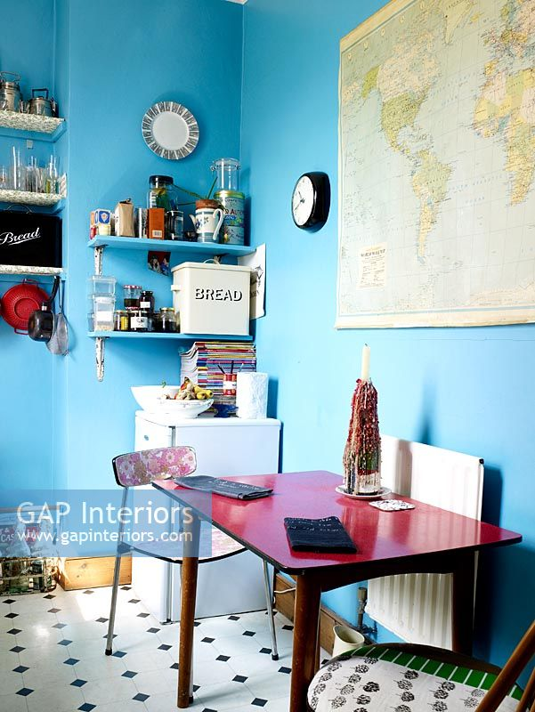 Gap interiors quirky kitchen diner with blue painted