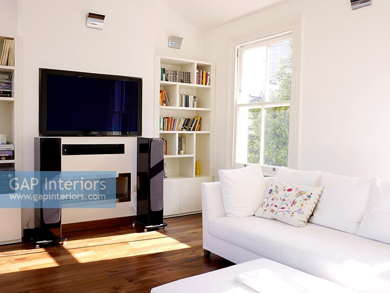 gap interiors modern living room with entertainment