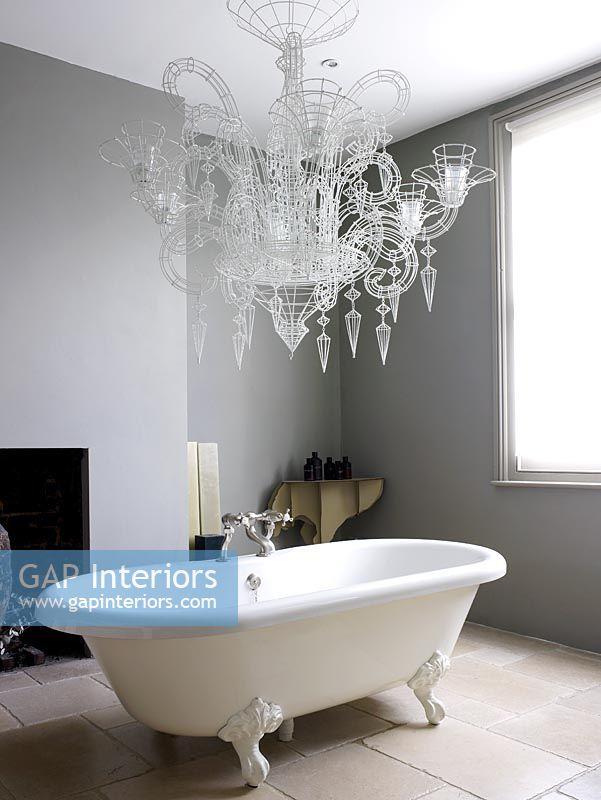 Gap Interiors Contemporary Bathroom With Roll Top Bath