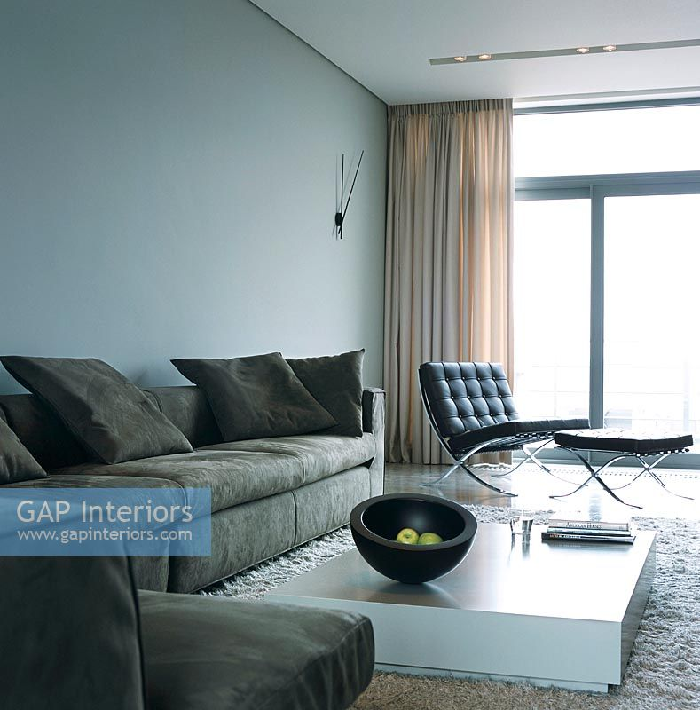 GAP Interiors - Modern living room with Barcelona chair - Image No ...