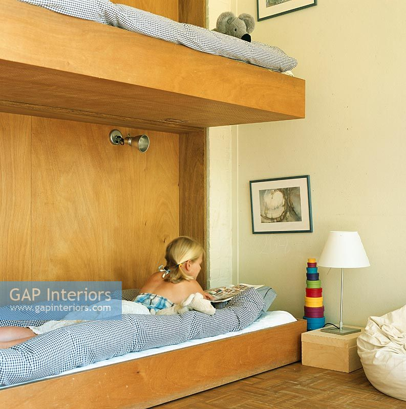 Children's room with bunk bed