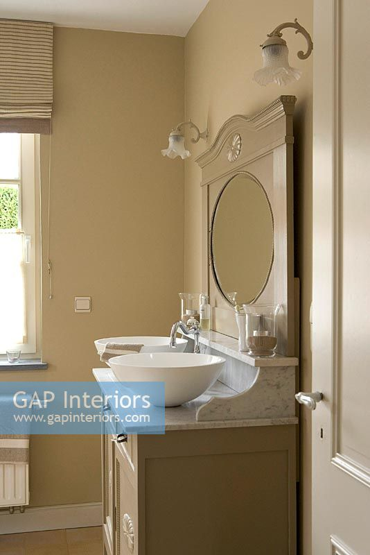 Gap Interiors Modern Bathroom With Vintage Sink Cabinet Image No 0023207 Photo By Bieke