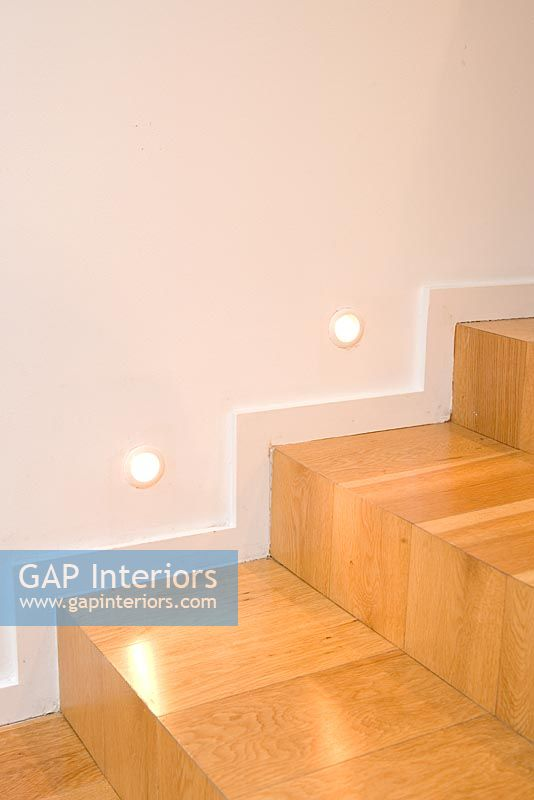 Shadow Gap Staircase Lighting: Detail Of Stairs With Lighting