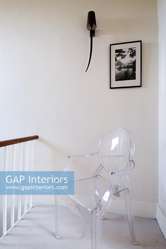 Hallway With Louis Ghost Chair By Philippe Starck For Kartell