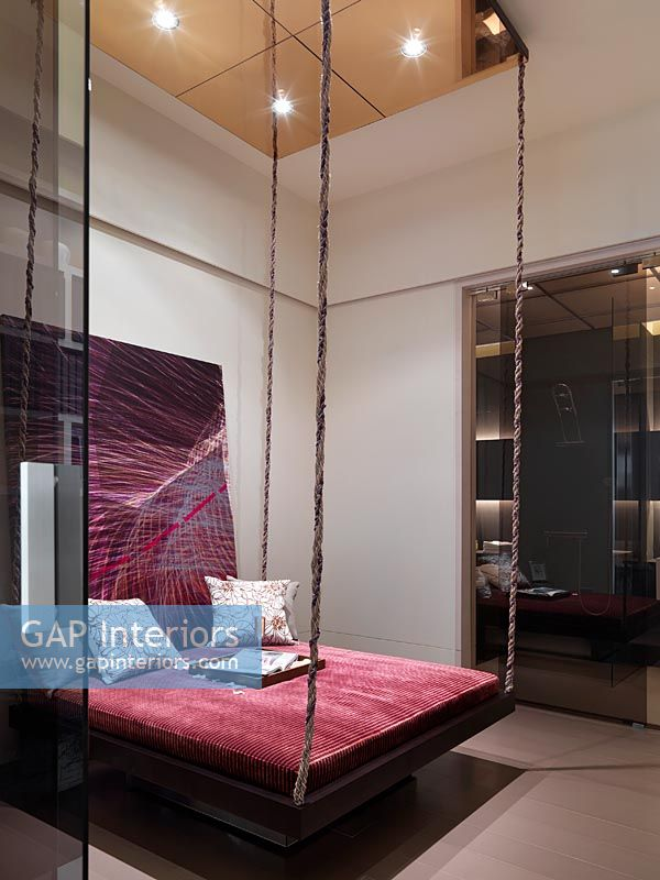 Gap Interiors Hanging Bed In Bedroom Image No 0033477