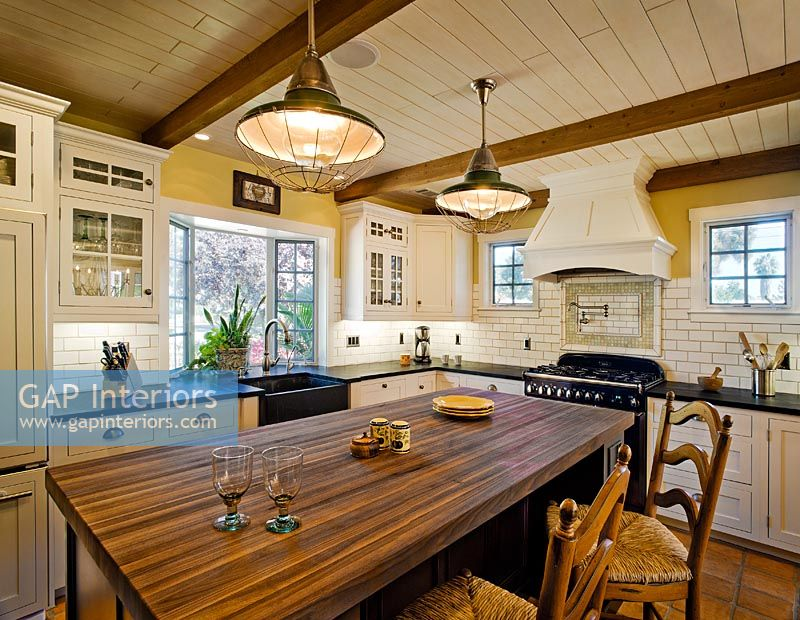Kitchen in spanish style home