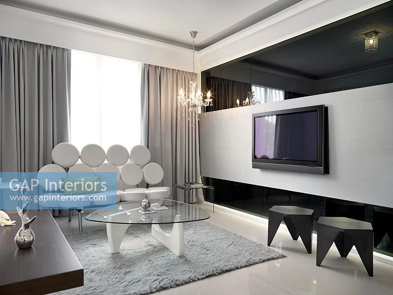 Modern retro living room