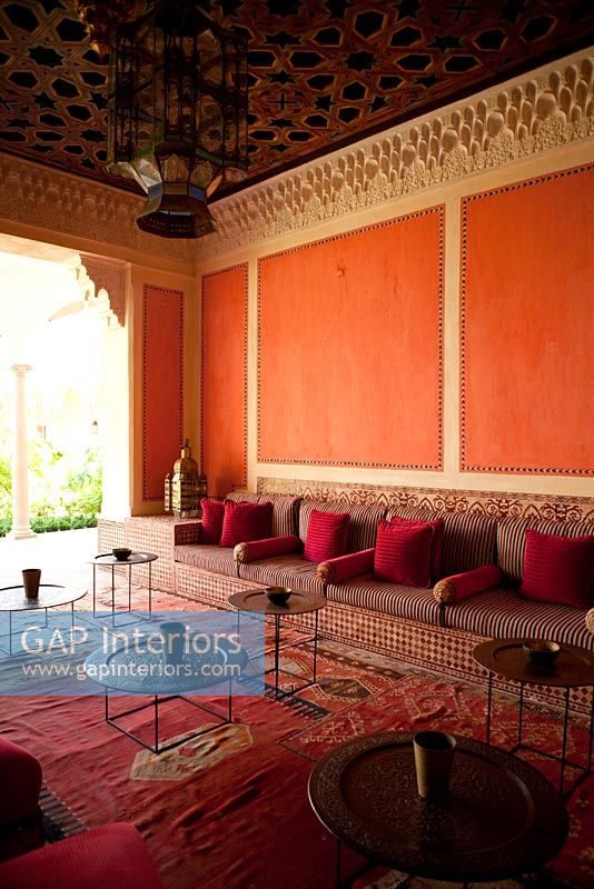 Gap Interiors Red Living Room With Moroccan Decor