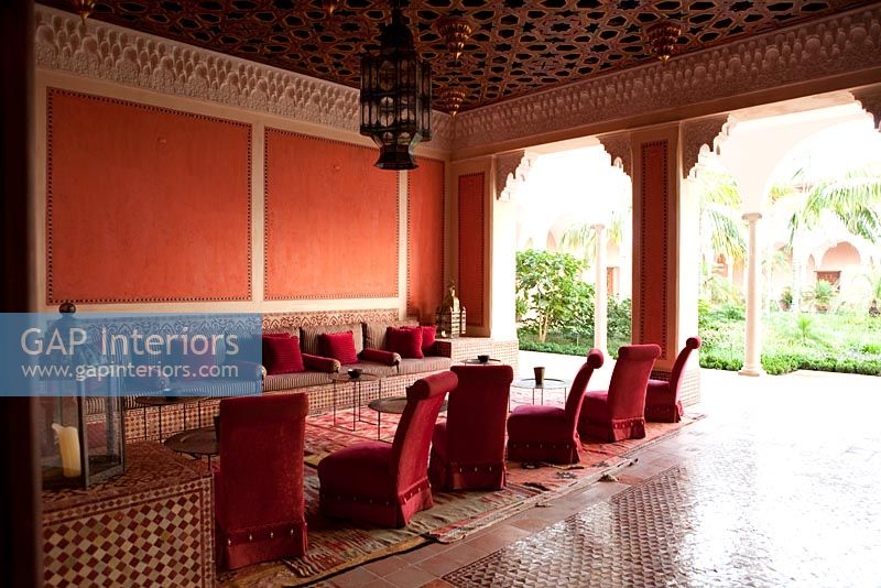 Gap Interiors Red Living Room With Moroccan Style Decor