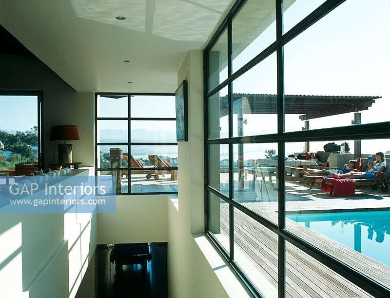 Gap Interiors Modern Terrace With Swimming Pool Image