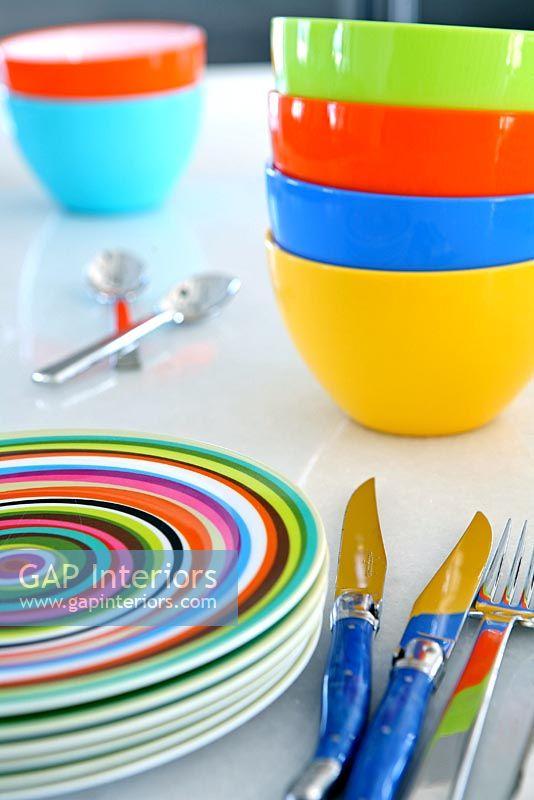 Selection of colourful crockery & GAP Interiors - Selection of colourful crockery - Image No: 0039804 ...