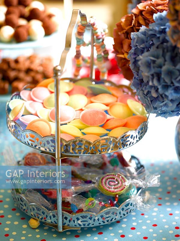 Cake stand full of sweets