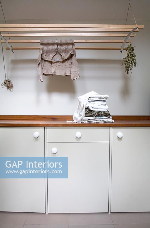 Clothes in utility room