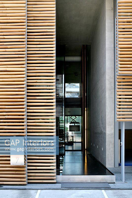 Modern industrial house exterior
