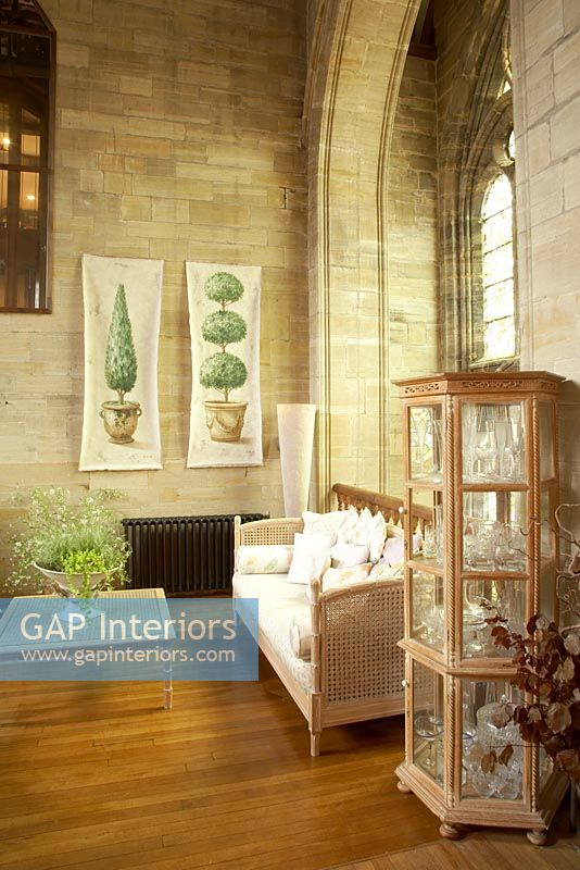 GAP Interiors Classic Living Room In Converted Church Image No 0044636