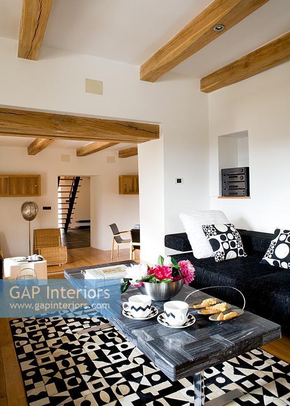Gap Interiors Modern Living Room In Split Level Home