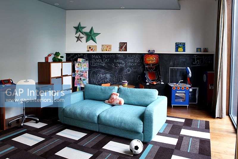 Modern childrens living and play room
