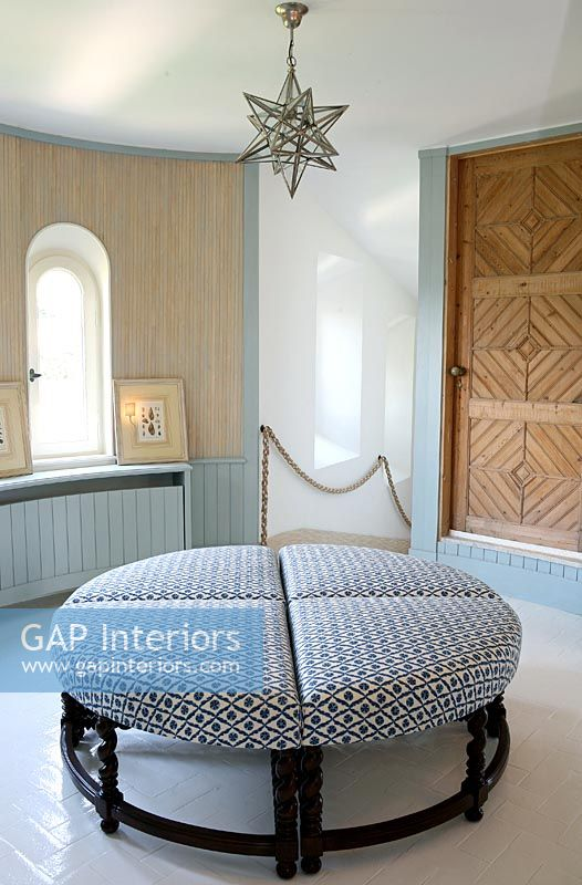 Gap interiors modern dressing room with circular seat - Furniture for dressing room ...