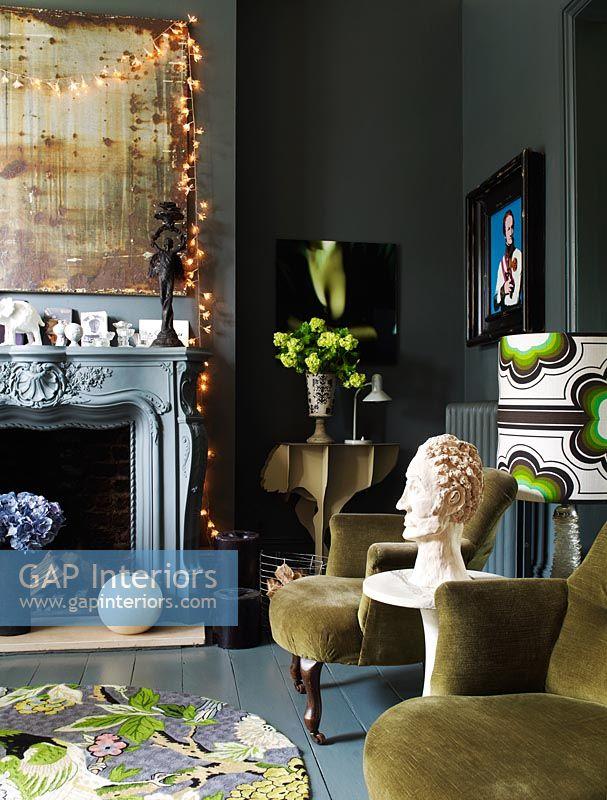 outstanding modern eclectic living room | GAP Interiors - Modern eclectic living room - Image No ...