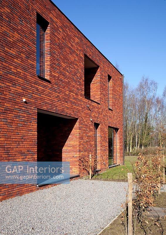 Gap Interiors Modern Red Brick House Exterior Image No 0050258 Photo By Bieke Claessens