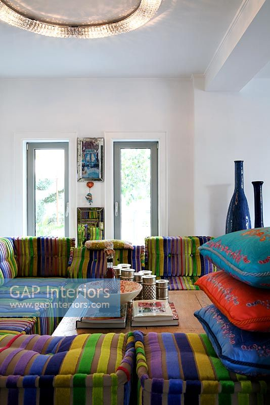 gap interiors - modern moroccan style living room - image no