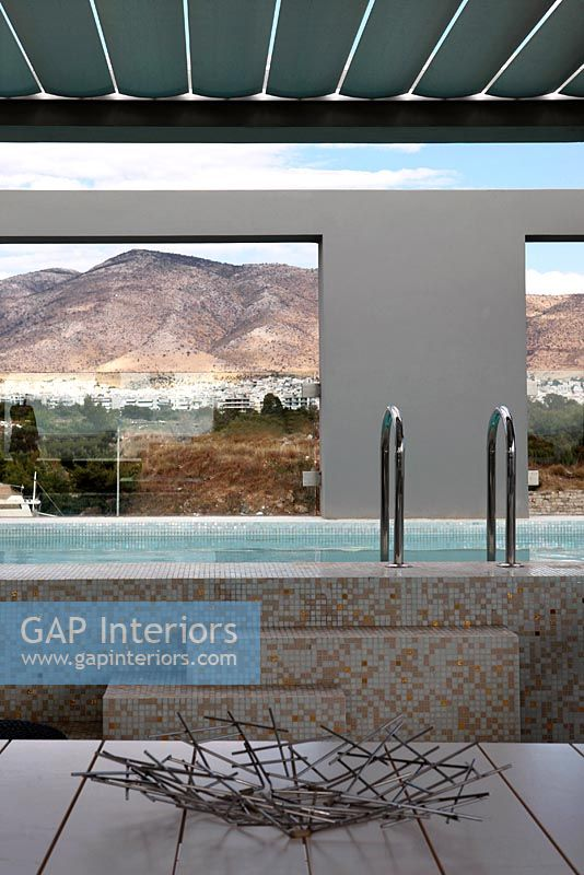 Gap Interiors Modern Swimming Pool On Roof Terrace Image No 0050905 Photo By Costas Picadas