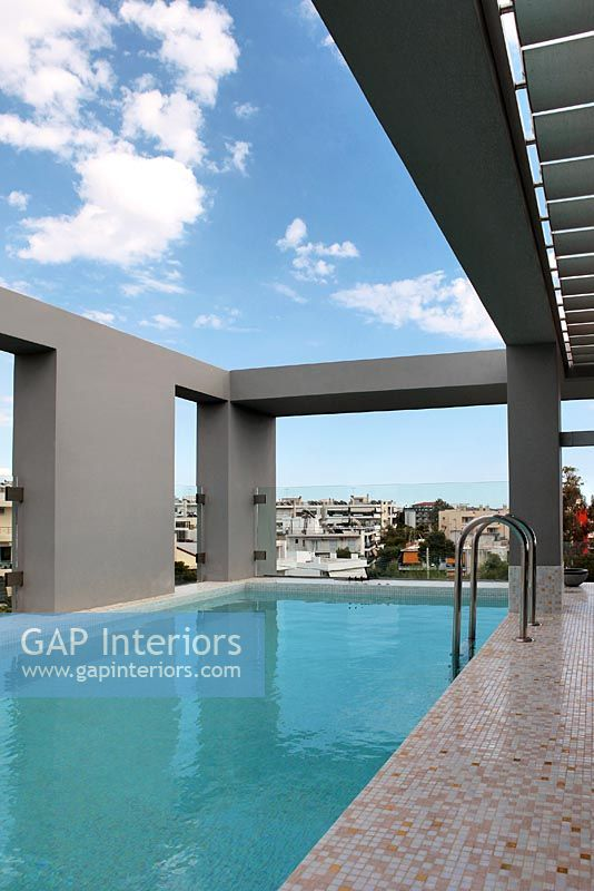 Gap Interiors Modern Swimming Pool On Roof Terrace Image No 0050907 Photo By Costas Picadas