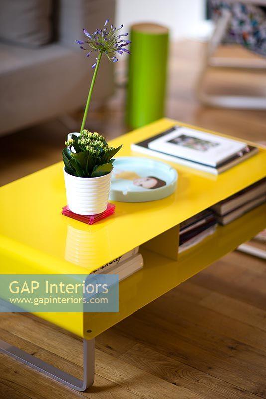 gap interiors - yellow coffee table - image no: 0051085 - photo
