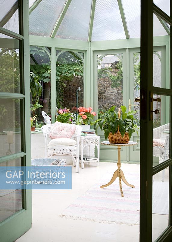 Furniture in classic conservatory