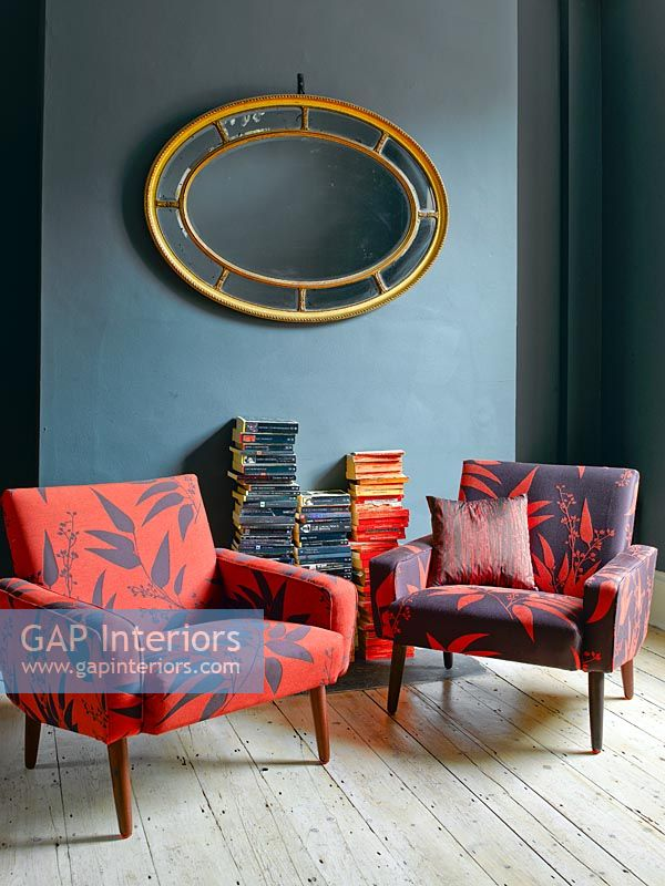 Colourful armchairs