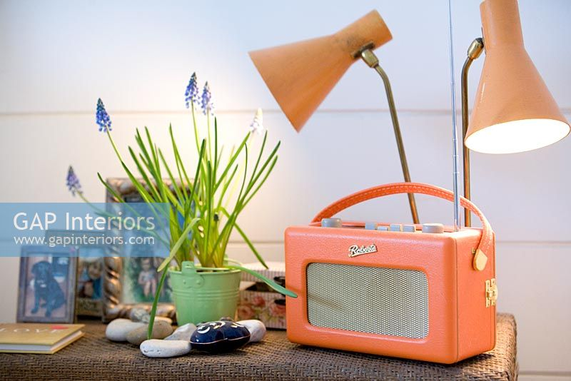 Vintage lamps and radio