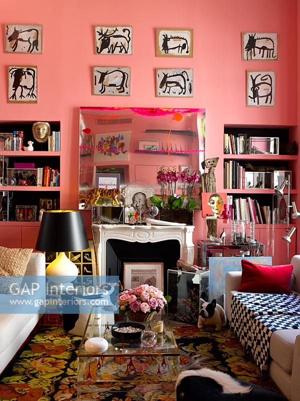 Colourful eclectic living room