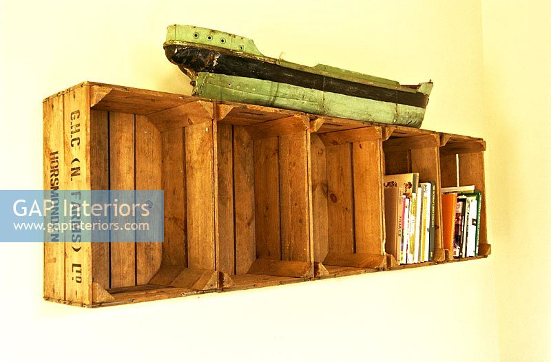Shelves made from old crates
