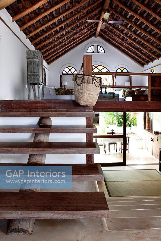 Gap Interiors Wooden Staircase To Mezzanine Floor
