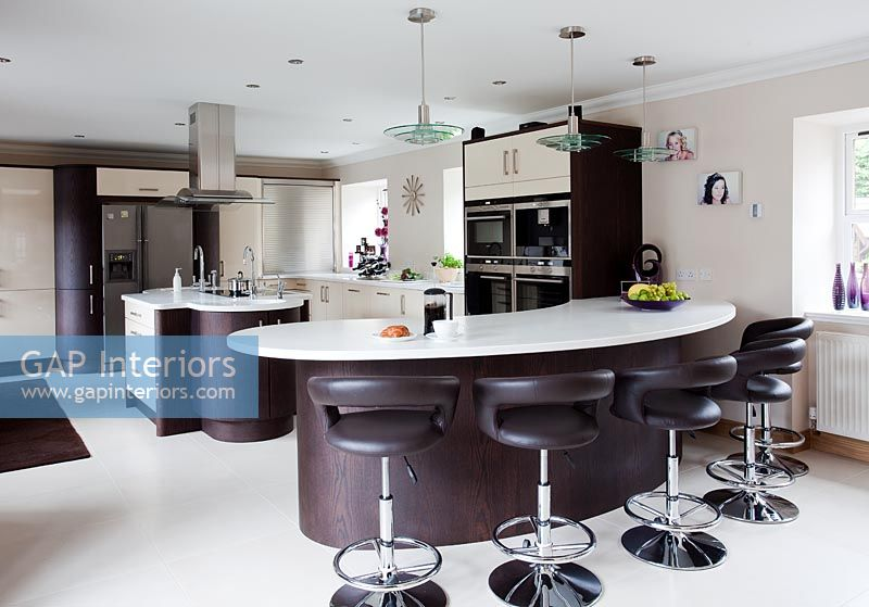Modern Breakfast Bar gap interiors - modern kitchen with breakfast bar - image no