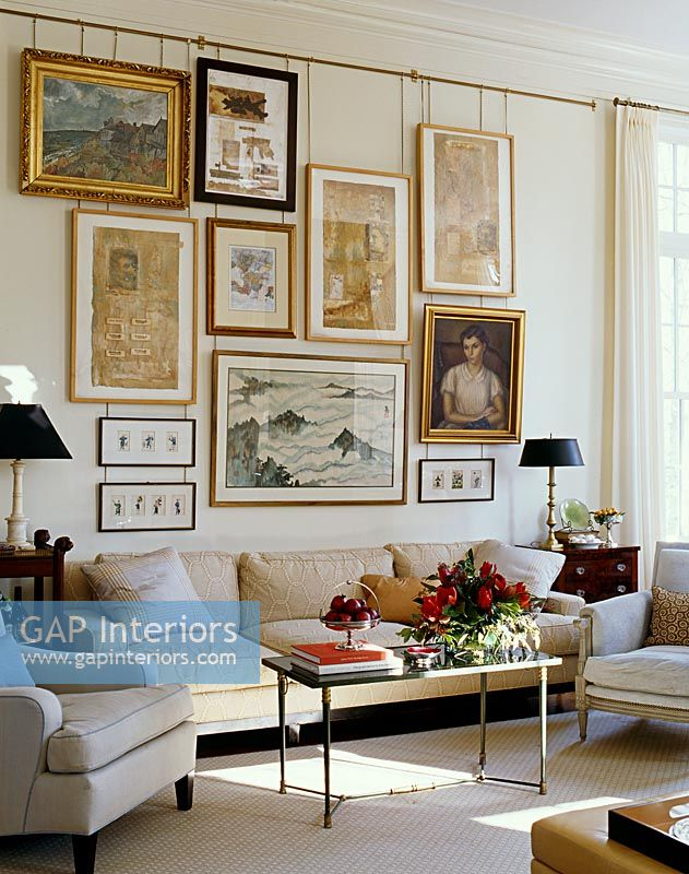 Gap Interiors Classic Living Room With Display Of