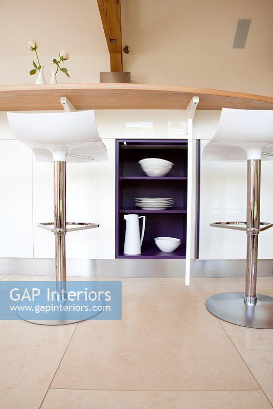 Storage Cupboard Under Modern Breakfast Bar
