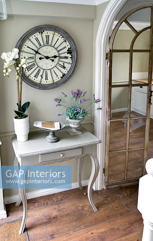 Gap Interiors Clock And Console Table In Classic Hallway