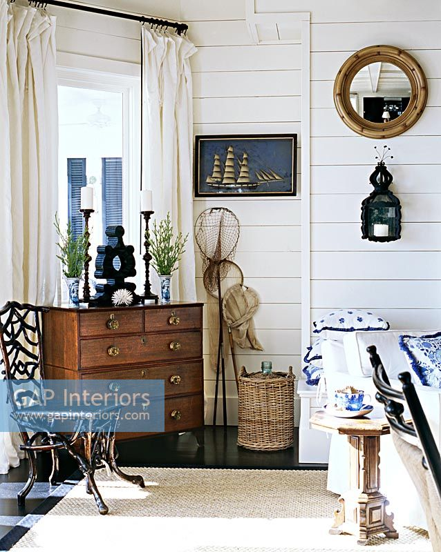 GAP Interiors - Chest of drawers in classic living room ...