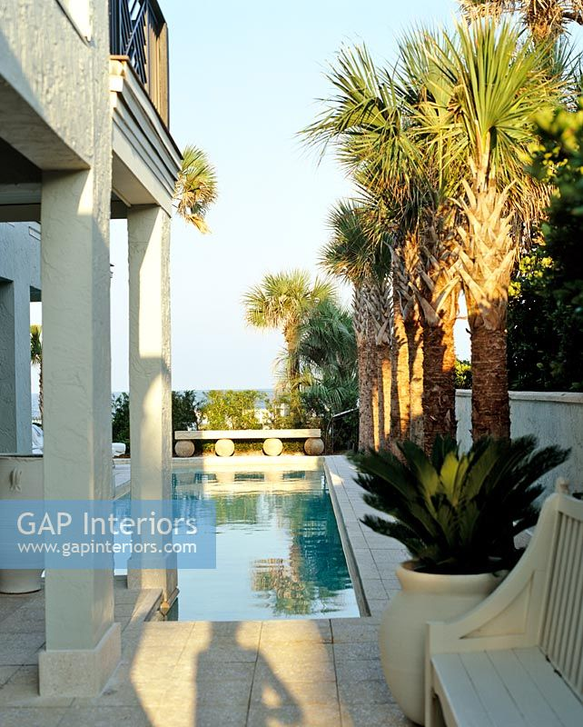 Gap Interiors Classic Terrace And Swimming Pool Image