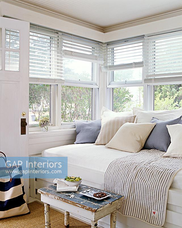 Preferred GAP Interiors - Daybed window seat in modern living room - Image  BF51