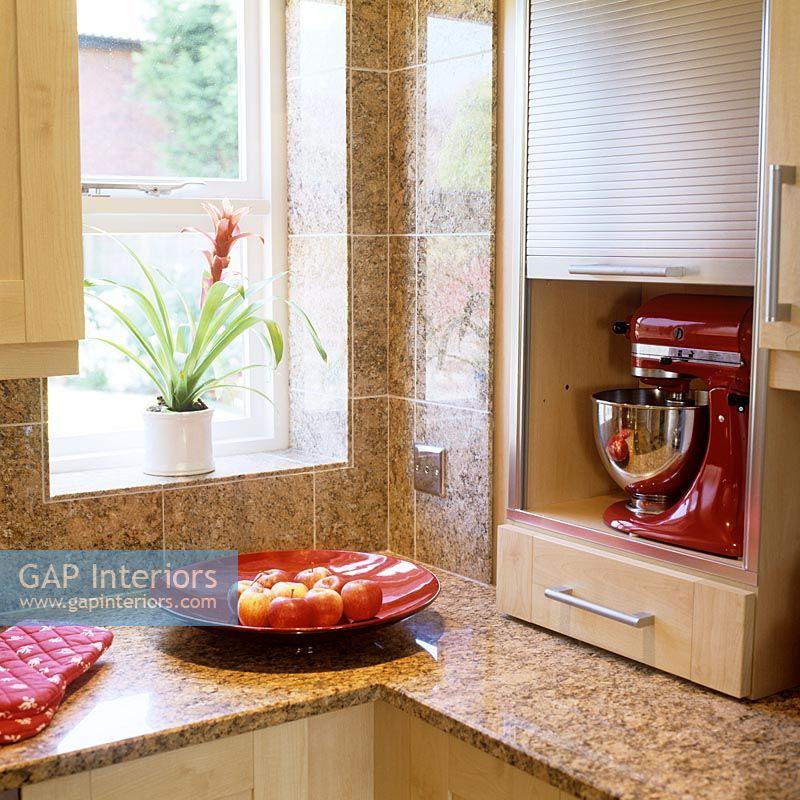 Roller Shutter Doors On Kitchen Cupboard
