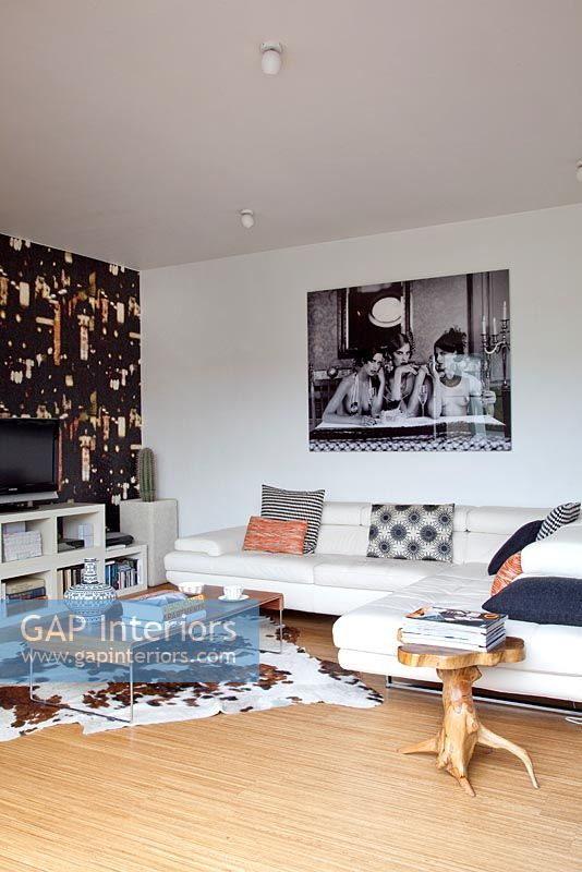 Contemporary eclectic living room