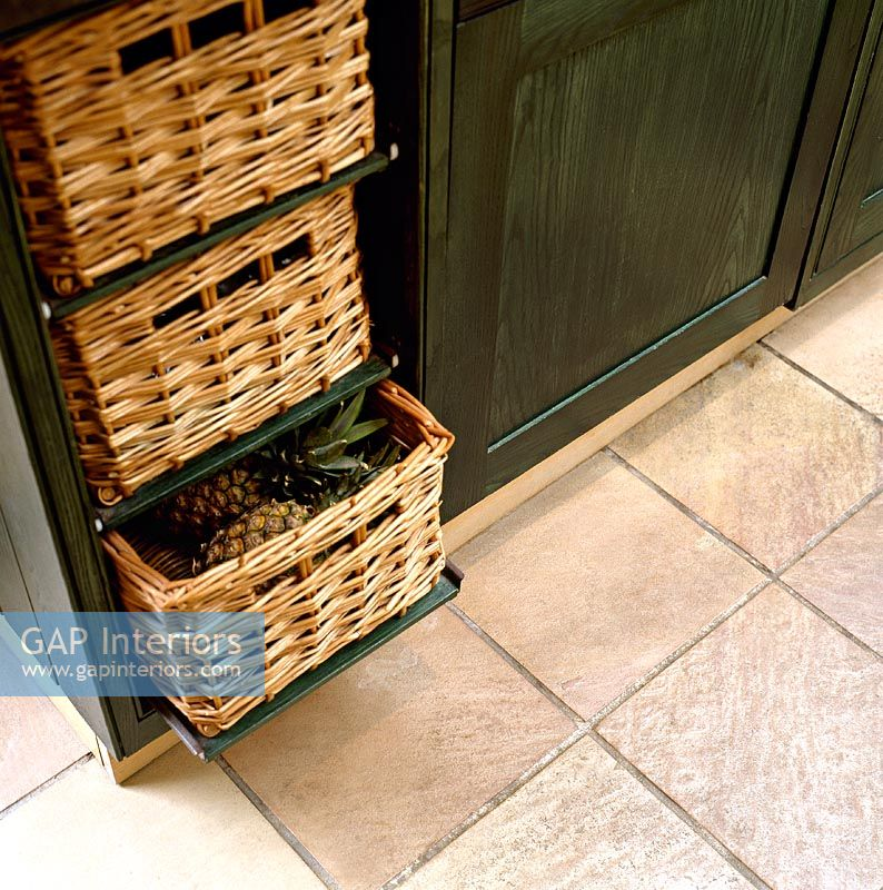 Detail Of Basket Drawers In Clic Kitchen