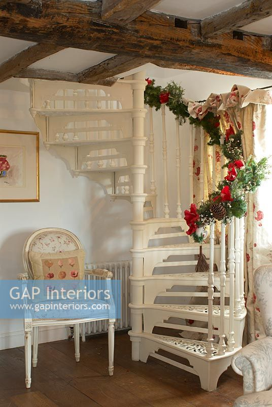 Spiral Staircase Christmas Decorations Photos Freezer And Stair